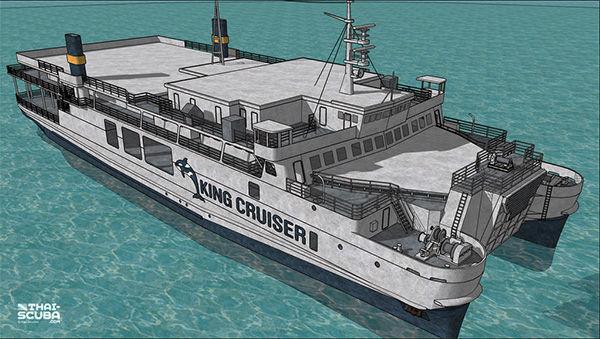 Кинг Круизер модель, 3D модель корабля Кинг Круизер