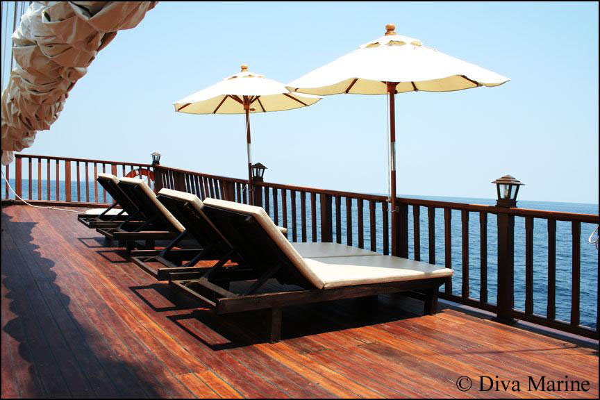 Diva Andaman - верхняя палуба