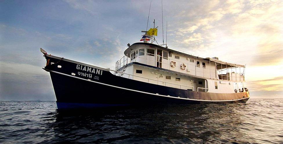 MV Giamani, Дайвинг-сафари в Таиланде, Симиланы дайвинг Джиамани, дайвинг сафари на Симиланские острова Giamani