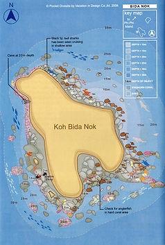 Карта дайв-сайта Ко Бида Най