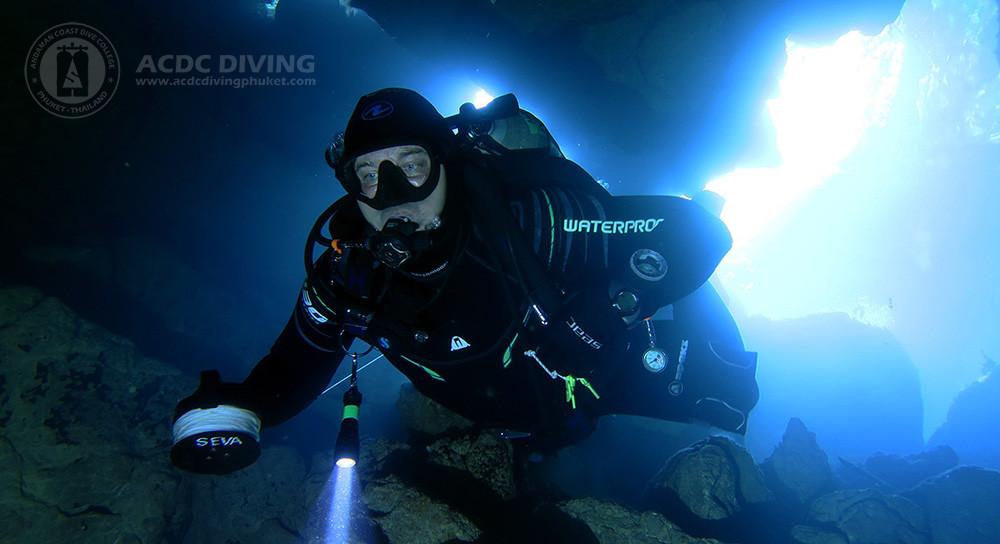 Кейв дайвинг в Таиланде, пещера Spider Cave