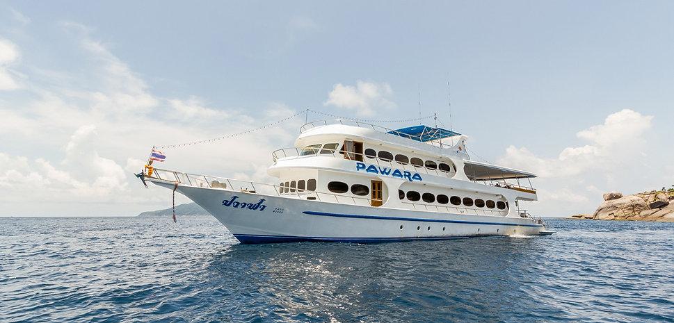 MV Pawara - дайвинг сафари в Таиланде, MV Pawara, дайвинг сафари в Таиланде, Дайвинг сафари на Симиланах, Симиланские острова дайвинг, Симиланы дайв-сафари, Ришелье Рок, Ко Бон, Ко Тачай, ACDC Diving Phuket