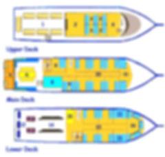 South Siam - схема корабля для дайвинг сафари, дайв-сафари на Симиланы, Симиланские острова дайвинг