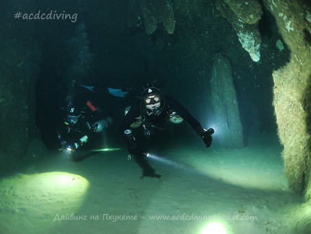 Дайвинг в гротах на островах Пхи Пхи