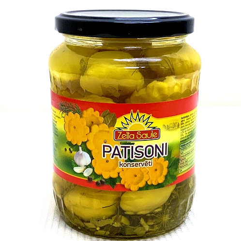 Zelta Saule Pickled Patison's 720 ml