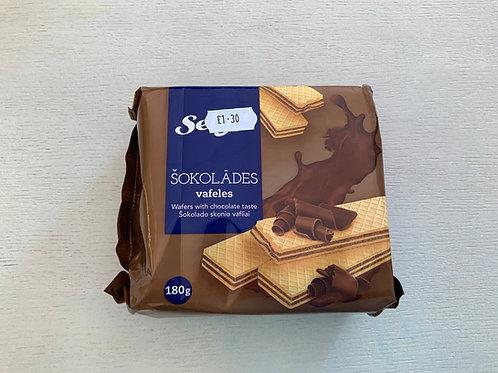 Selga Chocolate Flavour Wafers 180g