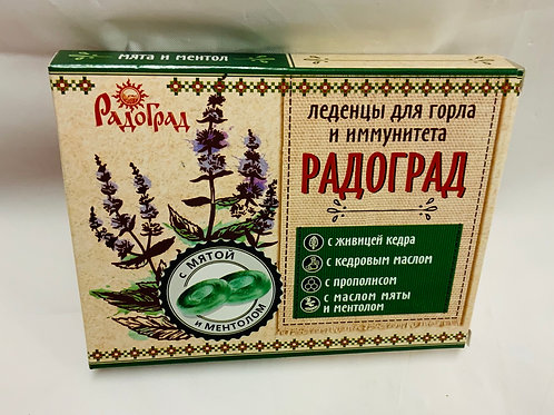 Radograd candies for throat and immunity with cedar and propolis