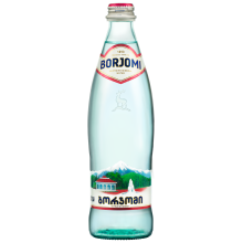 Borjomi Sparkling Mineral Water in a Glass Bottle 500ml