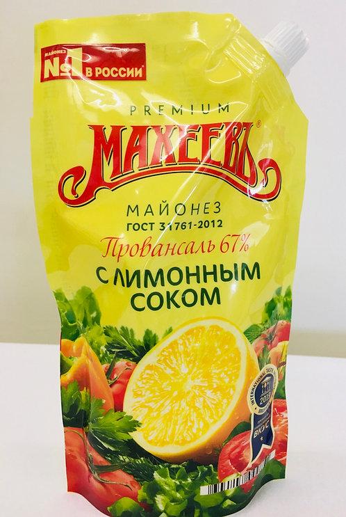 Mayonnaise Maheev with lemon juice 380g