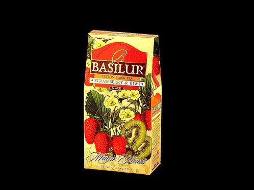 Strawberry & Kiwi Loose Black Ceylon Tea 100g