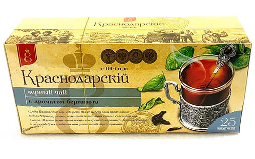Krasnodarsky Black Tea With Bergamot 25 bags