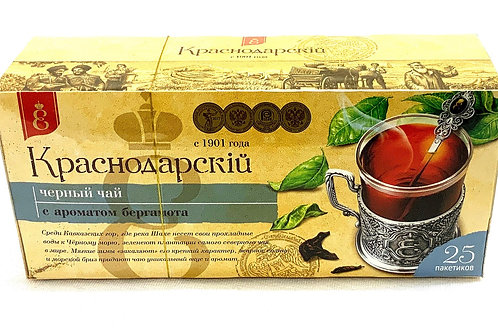 Krasnodarsky Black Tea With Bergamot 25 bags