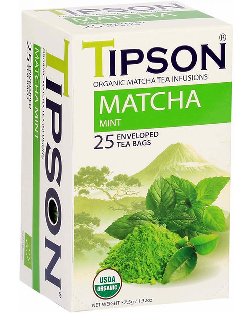TIPSON -Organic Matcha Mint Tea Bags 25