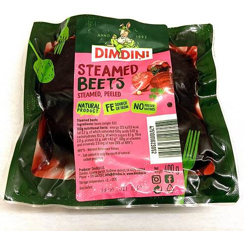 Boiled Red Beetroots In Vacuum Bag, Dimdini 400g
