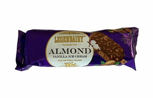 Vanilla Ice Cream In Belgian Milk Chocolate With Almonds 120ml