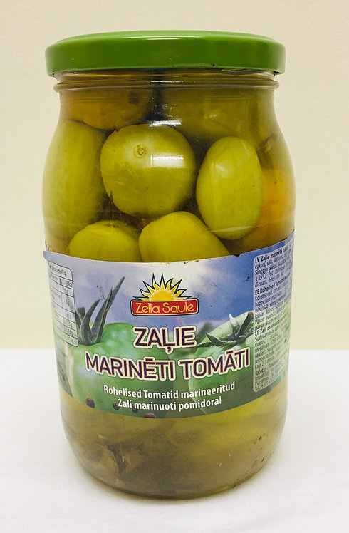 Zelta Saule Green Tomatoes In Marinade 900ml