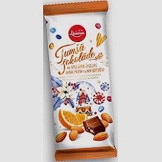 Laima - Dark Chocolate with Orange Jelly Pieces and Almonds 100g
