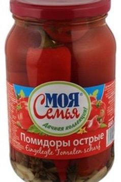 "Tomatoes, Hot ""Ostriye"", My Family 880g"