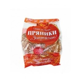"Gingerbread ""Zaporozhskie"" With Honey Flavour, Hlebodar 400g"