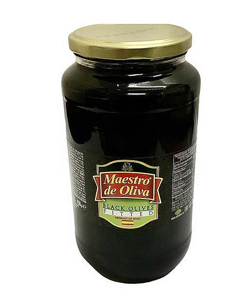 Pitted Black Olives Maestro De Olivia 900g