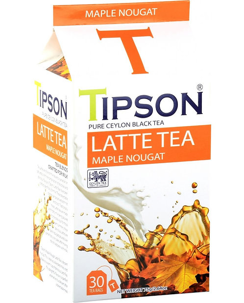 Tipson Maple Nougat Latte Tea 30 Tea Bags