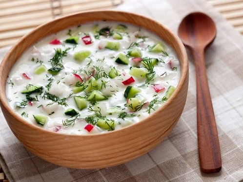 Homemade Russian Soup Okroshka ( With Kefir ) 1L