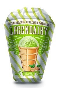 Ice Cream With Pistachio Flavour  Legendairy 130ml