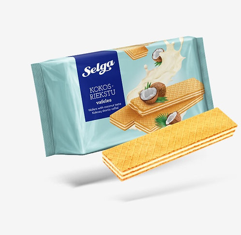 Selga Wafers With Coconut Taste 180g