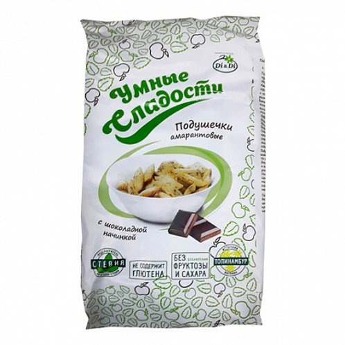 Smart sweets amaranth pads with chocolate filling, 150g