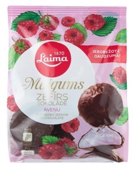 Laima Marshmallow in chocolate and Raspberry