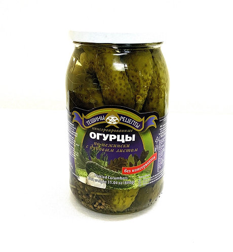 Teshchiny Recepty Pickled Cucumbers with Oak Leaves 900ml