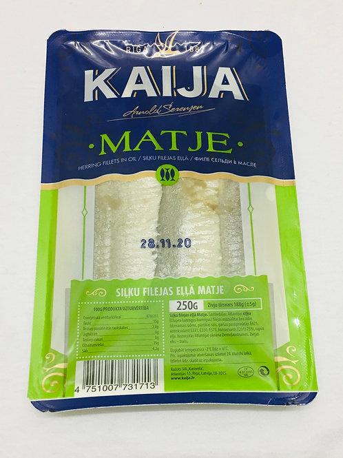 Kaija Herring Fillets in Oil Matje 250 g