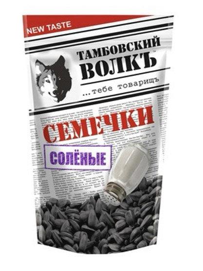 """Roasted Salted Black Sunflower Seeds """"Tambov Wolf"""" 500g"""