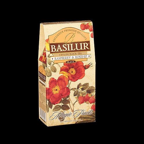 Raspberry & Rosehip Loose Flavoured Black Tea 100g