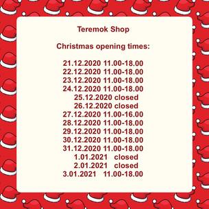Teremok Shop is open.