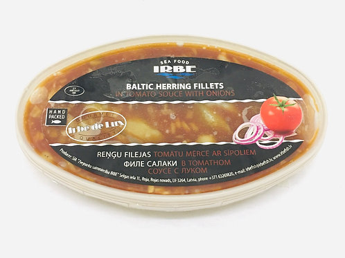 Irbe Baltic Herrings In Tomatoes Sauce With Onion
