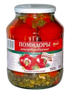 "Tomatoes With Dill ""My Family"" 1600g"