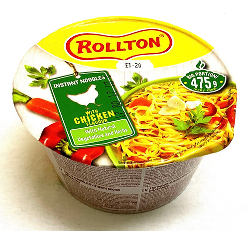 Rollton Noodles With Chicken Flavour In Cup 75 g