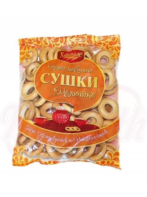 "Bagels With Mini Vanilla Flavour ""Malyutka"", Hlebodar  270g"