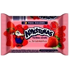 Nykstukas Curd Cheese Bar with Strawberry 100g