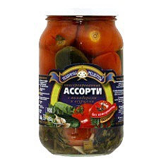 Teshchiny Recepty - Assorti Tomatoes and Cucumbers 900ml