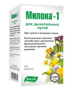 Milona1 for respiratory protection 100tab