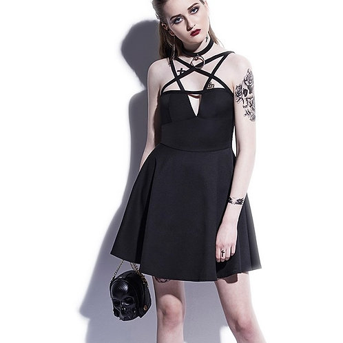 Black pentagram DRESS