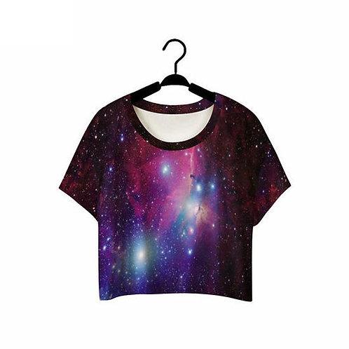 Pink galaxy CROP TOP