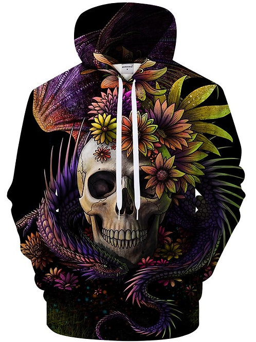 Dragon flower skull SWEAT