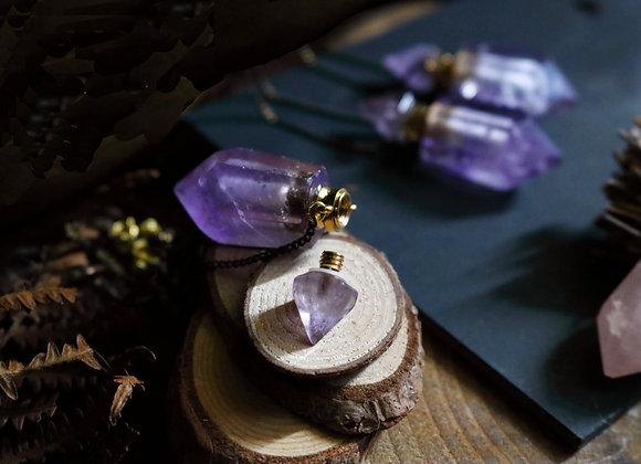 Fiole à secrets - Amethyste, Pierre des Déesses