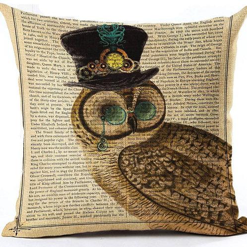 Victorian Owl HOUSSE DE COUSSIN