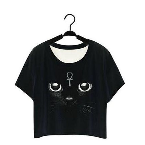 Egyptian cat CROP TOP