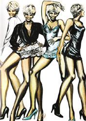Tina Turner Dress Sketches