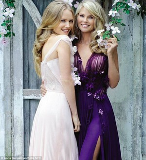 Sailor Brinkley Cook and Christie Brinkley Bella Magazine
